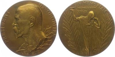 AE Medaile 1937 - K úmrtí T. G. Masaryka, bronz 80 mm