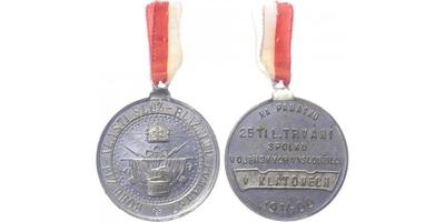 AE Medaile 1900 - 25. trvání spolku vojenských vysloužilců v Klatovech