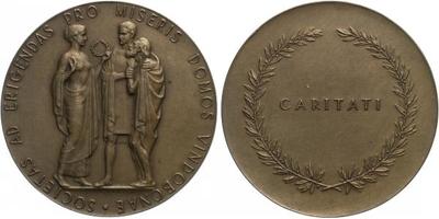 AE Medaile b.l. - Chudobinec ve Vídni, Br 50 mm (45,4 g)