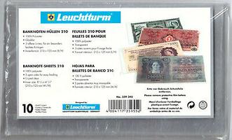 Ochranné překrývací obaly na bankovky 210 x 125 - 10 ks