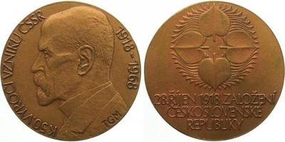 Medaile 1968 - T.G.Masaryk