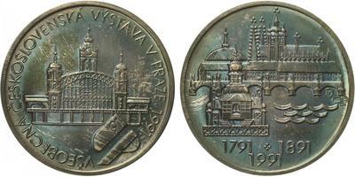 Československo, Medaile 1991 - Všeobecná Československá výstava v Praze 1991