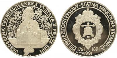 Medaile 1991 - Všeobecná Československá výstava v Praze 1991, PROOF