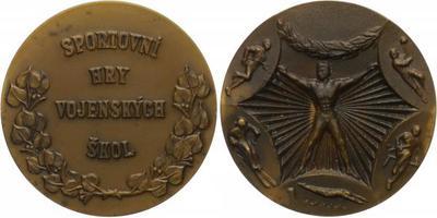 AE Medaile b.l. (Fibiger) - Sportovní hry vojenských škol, 60 mm