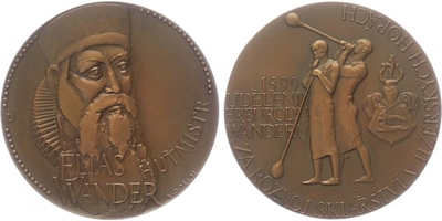 AE Medaile b.l. - 400. výročí udělení erbu rodu Wanderů