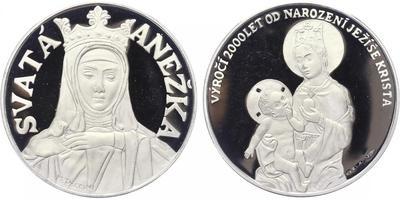 Medaile b.l. (2000) - 2000 let od narození Ježíše Krista - Svatá Anežka