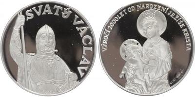 Medaile b.l. (2000) - 2000 let od narození Ježíše Krista - Svatý Václav