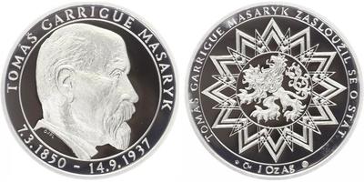 AR Medaile b.l. - 70 let od úmrtí T.G.Masaryka, PROOF