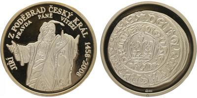 AR Medaile 2008 - Jiří z Podbrad, PROOF