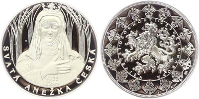 AR Medaile b.l. - Největší osobnosti českého národa / Sv. Anežka česká, PROOF