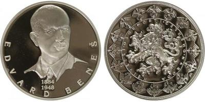 AR Medaile b.l. - Největší osobnosti českého národa - Edvard Beneš, PROOF