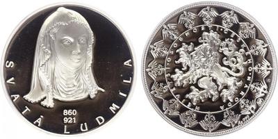AR Medaile b.l. - Největší osobnosti českého národa - Svatá Ludmila
