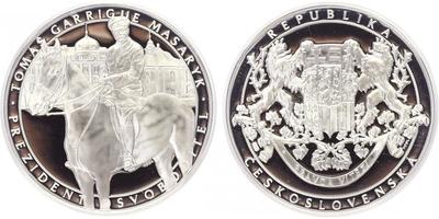 AR Medaile b.l. - Historické momenty - T. G. Masaryk, PROOF