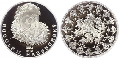 AR Medaile b.l. - Největší osobnosti českého národa - Rudolf II.