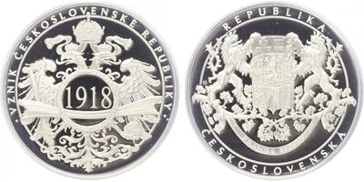 AR Medaile b.l. - Vznik Československa, PROOF