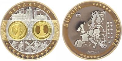 AR Medaile b.l. - Mapa sjednocené Evropy - Holandsko, PROOF