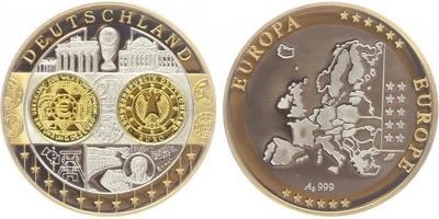 AR Medaile b.l. - Mapa sjednocené Evropy - Německo, PROOF