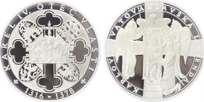 AR Medaile b.l. - Život Karla IV. - Svatováclavská legenda, PROOF