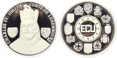 AR Medaile b.l. - Karel IV., PROOF