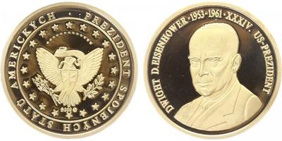 AR Medaile b.l. - Prezidenti Spojených států Amerických - Dwight D. Eisenhower, PROOF