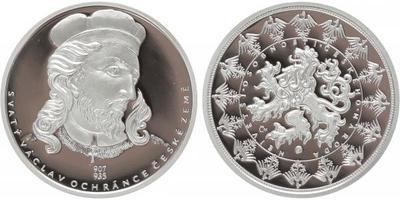 AR Medaile b.l. - Svatý Václav, Ag 0,9999, PROOF