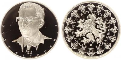 AR Medaile b.l. - Největší osobnosti českého národa - Otto Wichterle, Ag 0,999, 40 mm