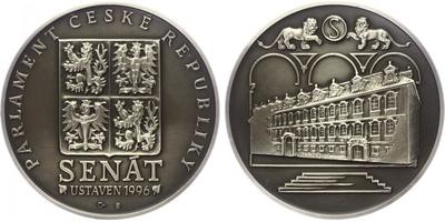 AR Medaile 1996 - SENÁT parlamentu české republiky, patinovaná