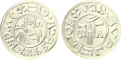 AR Medaile 1999 - Replika denáru Boleslava II., běžná kvalita