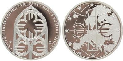 AR Medaile 2002 - K zavedení Euro měny, PROOF