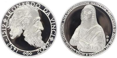 AR Medaile 2002 - Leonardo da Vinchi a Mona Lisa, PROOF