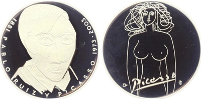 AR Medaile 2003 - Pablo Picasso, PROOF,