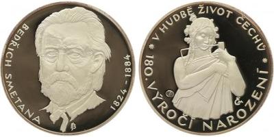 AR Medaile b.l. - Bedřich Smetana, PROOF