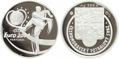 AR Medaile 2004 - MS ve fotbale 2004 v Portugalsku, PROOF