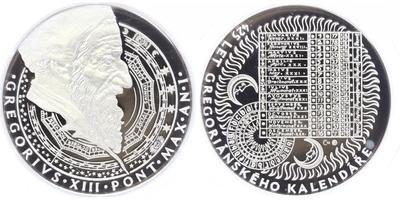 AR Medaile b.l. - 425 let od přijetí gregoriánského kalendáře, PROOF