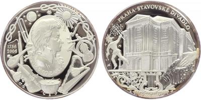 AR Medaile 2006 - 250. výročí narození W. A. Mozarta, PROOF