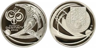 Česká mincovna, Medaile 2006 - MS ve fotbale 2006 v Německu, PROOF