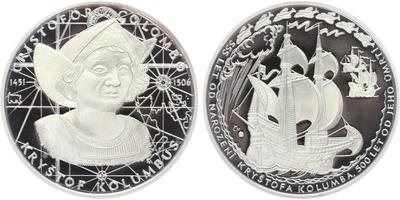 AR Medaile b.l. - Kryštov Kolumbus, PROOF
