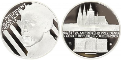 AR Medaile 2009 - návštěva Baracka Obamy v České republice, PROOF