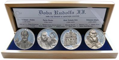AR Medaile 2009 - Sada 4 kusů medailí se společným reversem - Doba Rudolfa II., PROOF