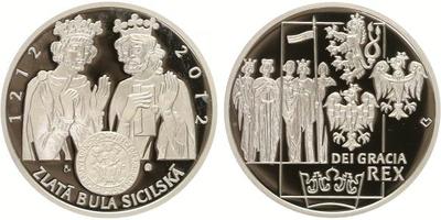 AR Medaile 2012 - Zlatá Bula sicilská, Ag 0,999, 37 mm (31,1 g), kapsle, etue, certif