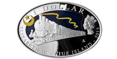 AR Medaile 2013 - 130 let Orient Expresu, kolorováno, PROOF