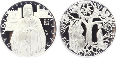 AR Medaile 2013 - Dekameron - Den první - Gaskoňská paní, PROOF