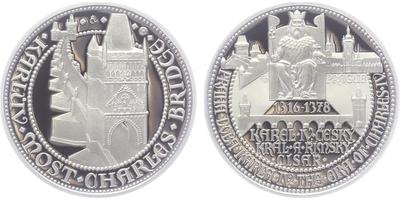 AR Medaile 2014 - Doba Karla IV. - Karlův most, PROOF