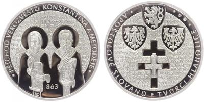 Stříbrná medaile 2015 - Příchod věrozvěstů Konstantina a Metoděje, PROOF