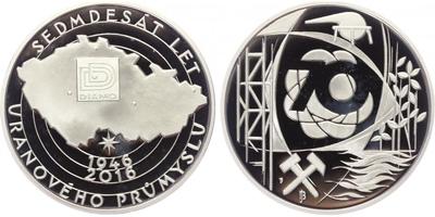 AR Medaile 2016 - 70 let uranového průmyslu, PROOF
