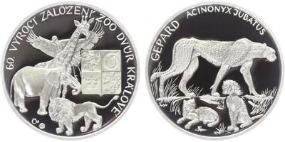 AR Medaile b.l. - 60. výročí ZOO Dvůr Králové, PROOF