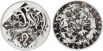 AR Medaile b.l. - Znamení zvěrokruhu, Lev - Leo, Ag 0,999, 34 mm (16 g), etue, certif