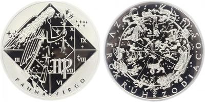 AR Medaile b.l. - Znamení zvěrokruhu, Beran - Aries, Ag 0,999, 34 mm (16 g), etue, PR