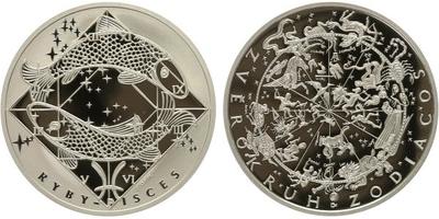 AR Medaile b.l. - Znamení zvěrokruhu, Ryby - Pisces, Ag 0,999, 34 mm (16 g), etue, PR