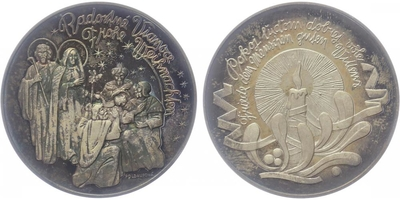 AR Medaile 2014 - 10. výročí vstupu slovenska do EU, Ag 0,999, 34 mm (15 g), PROOF